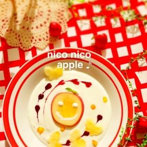 ニコニコApple♡ヨーグルトアート♪
