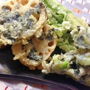 野菜の韓国海苔天ぷら