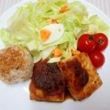 豆腐ステーキのダイエットワンプレート