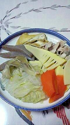 今が旬、筍と豚肉の煮物