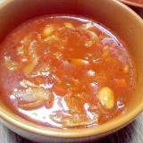残り野菜とトマトソースで作る簡単ミネストローネ