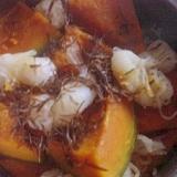 結びしらたきと切り昆布とかぼちゃの煮物☆