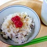 雑穀米ごはんのお茶漬け