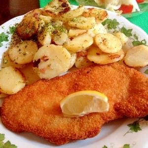 定番ドイツ料理「焼きじゃがいもの付け合わせ」♪