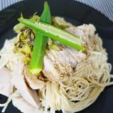 素麺を中華味で♪ 柔らか鶏肉の中華素麺