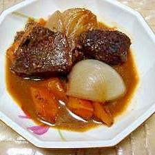 輸入牛肉の赤ワイン柔らか煮