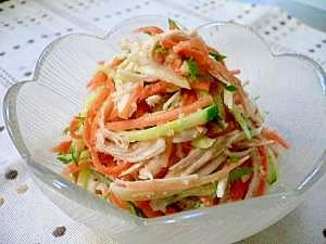 野菜とささみの和え物~エスニック風