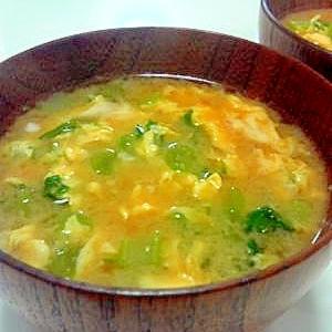 大根葉と卵☆お味噌汁