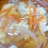 野菜と玉子の和風しょうがスープ
