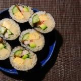 高野豆腐と胡瓜の太巻き