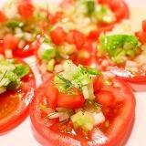 新玉葱でシャッキ♪トマトのマリネサラダ
