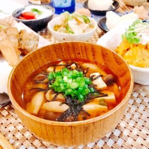 簡単♡お豆腐と海苔としめじのお味噌汁