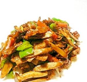 豚肉とゴボウの味噌炒め、ご飯がすすむ!