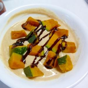 ☆カフェモカ味で♪ かぼちゃチョコヨーグルト☆