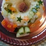 すし酢を青梅の甘露煮で代用☆キラキラサラダ寿司☆