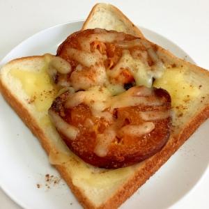 干し柿とチーズのトースト♪