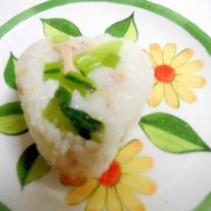 長野県 野沢菜とツナのおにぎり