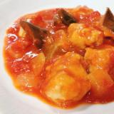 フライパン一つで鶏肉とナスのトマト煮込み