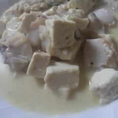 タラと豆腐の蒸し焼き