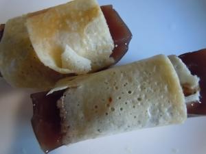 大豆粉で羊羹巻き