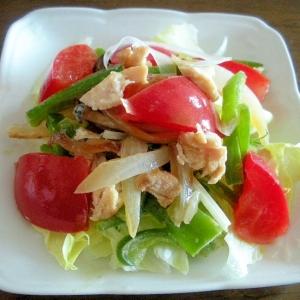 ☆鶏ムネ肉と野菜のマヨ炒めサラダ☆