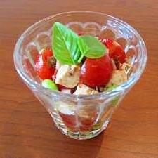 枝豆とプチトマトの木綿豆腐サラダ☆バルサミコ風