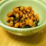 簡単おいしい!大豆と昆布の煮物