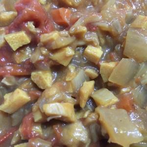 高野豆腐のトマ味噌カレー