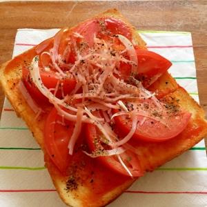 簡単 トマトのピザトースト ♪