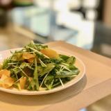 水菜とオレンジのサラダ