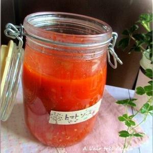 ホールトマトで簡単煮込み!ピザ・トマトソース♪