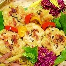 減塩☆鶏胸肉と蓮根のシャキシャキバーグ