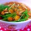 なめこと水菜のスープ