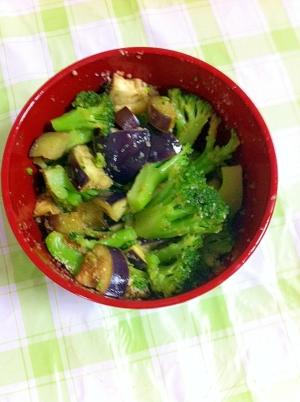 ヘルシー☆なす&ブロッコリーのさっぱりサラダ