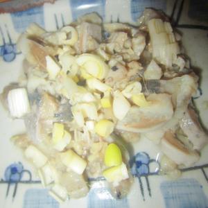 鰯きざみ生姜の酢の刺身