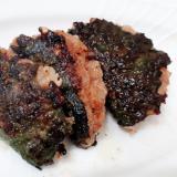 とり挽き肉の大葉ハンバーグ