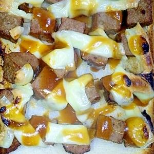 簡単美味!サイコロハンバーグチーズトースト