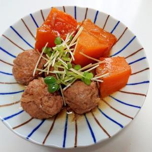 カボチャと肉団子の煮物