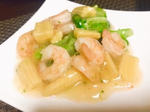 簡単中華!海老とブロッコリーの塩炒め