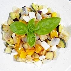 夏野菜とイカの胡桃和え