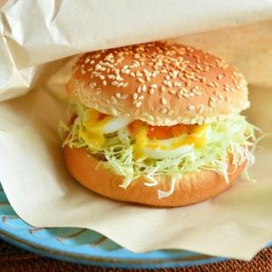 ちゃちゃっと簡単朝ごはん!卵&レタスバーガー