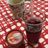ブルーベリーの炭酸ジュース