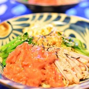暑い夏に◎冷凍プチトマトのスムージー冷麺