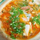 たっぷりひとり鍋☆キムチ納豆鍋