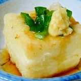揚げ出しふく白子豆腐