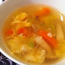 しめじと玉子の中華スープ