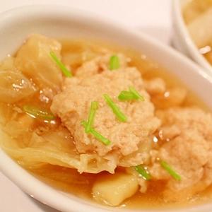 キャベツたっぷり☆ふわふわ肉団子のヘルシースープ
