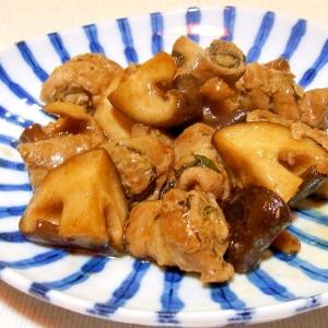 しそ巻き豚肉と椎茸のポン酢炒め