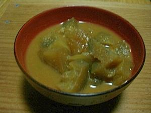 米ナスと冬瓜のお味噌汁