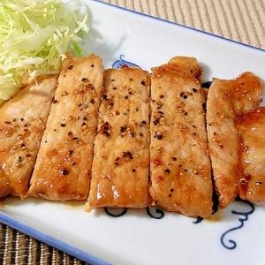 豚肉のポン酢ガーリックソテー